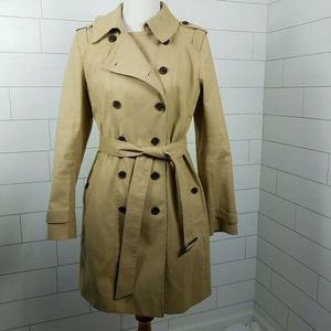 Ann Taylor Size Medium Double Breasted Trench Coat